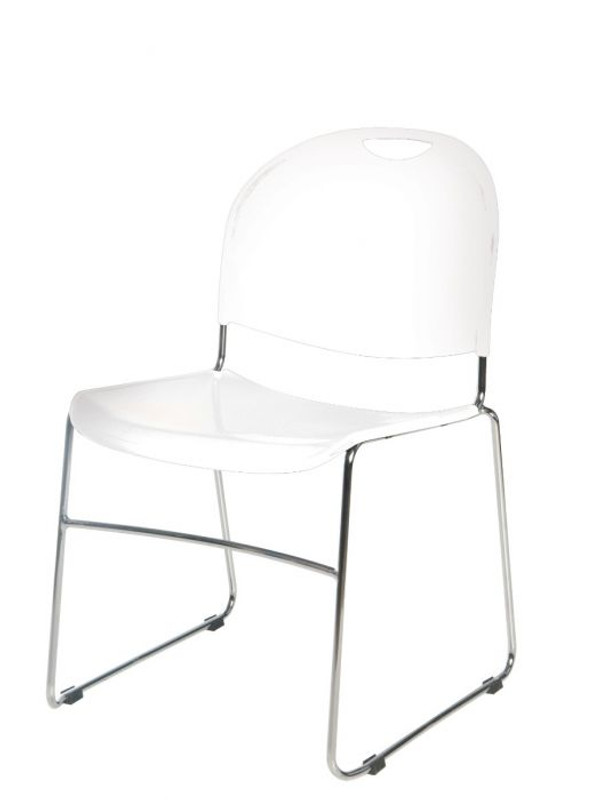 Cram Sled Training Chair - White