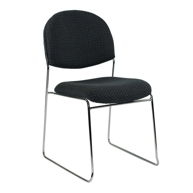 Hasting Visitors Chair in Charcoal Fabric