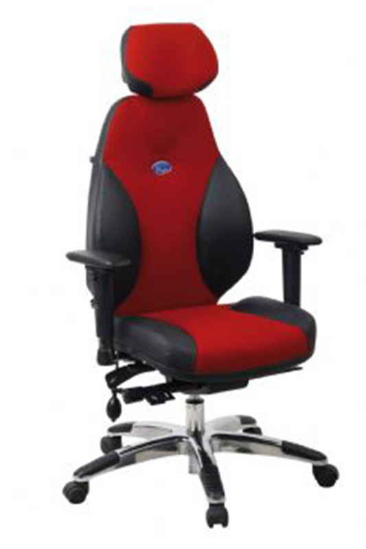 Enduro Premium Leather Executive Office Chair - Red