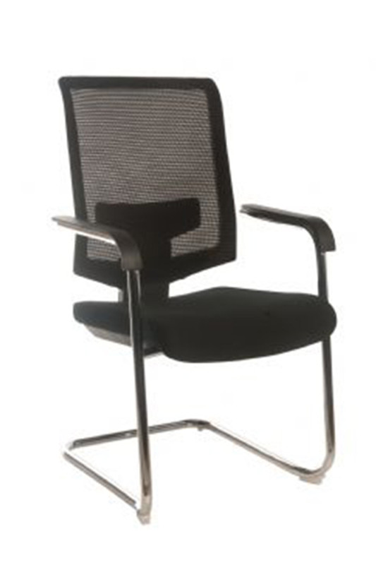 Fenster Mesh Back Executive Visitor / Conference Chair - Black