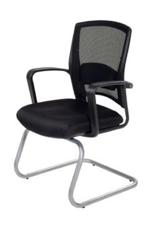 Fulkrum 3 Fabric Seat / Mesh Back Visitor Chair - Black