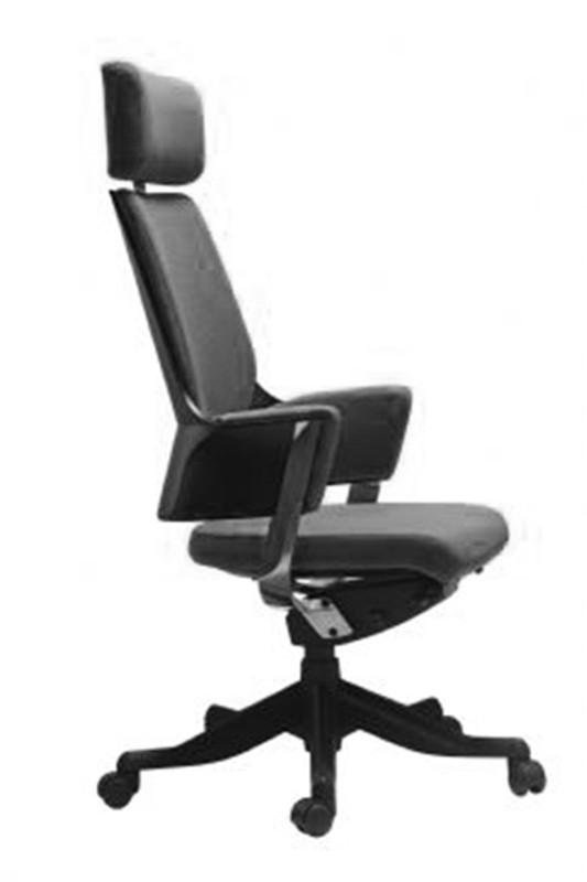 Delphi Modern Sleek Executive Office Chair - Black Faux Leather