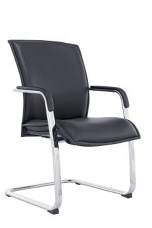 Allegro PU Leather Visitor Chair - Black