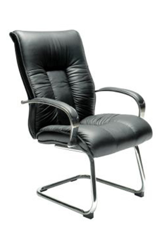 Big Boy Real Leather Visitor Chair - Black