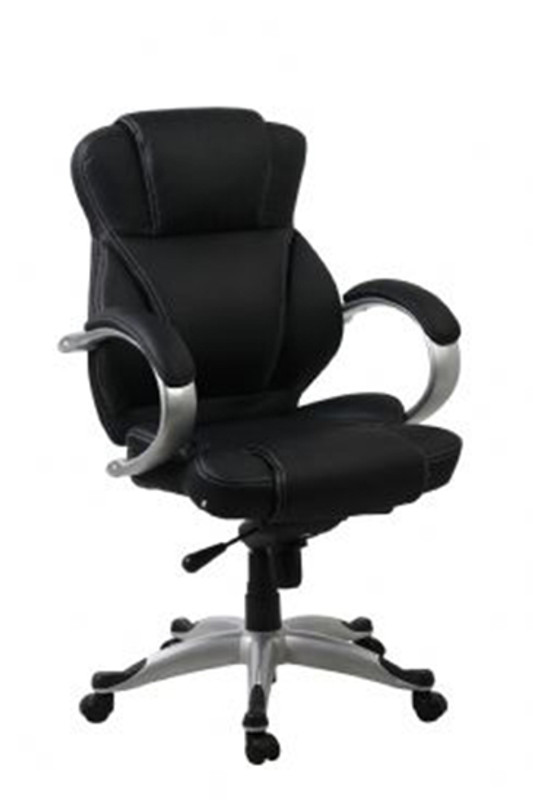 Darth Executive High/Mid Back Chair - Black Synthetic Leather