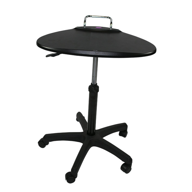 Upango Manual Adjustable Laptop Table on Wheels