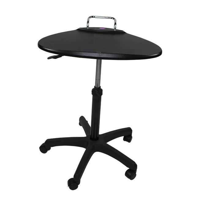 Upango Manual Adjustable Laptop Table on Wheels