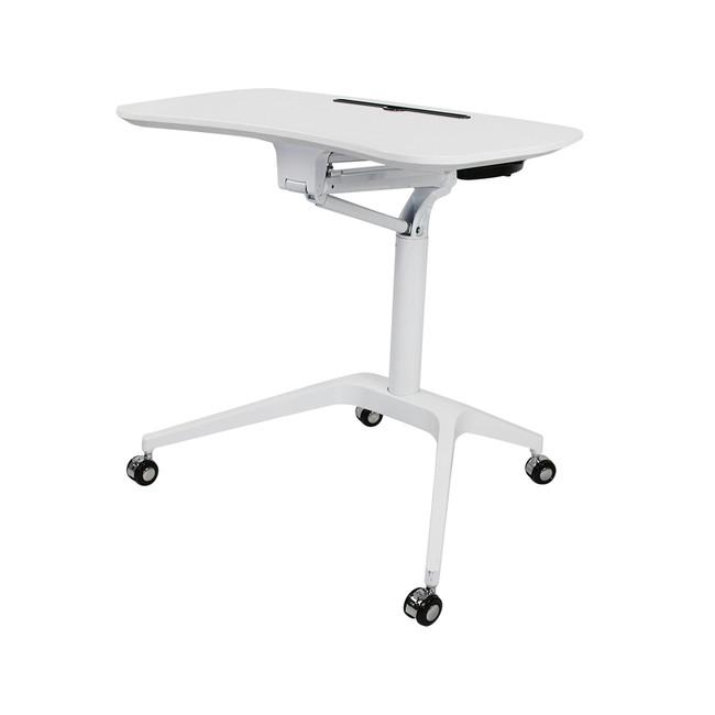 Stockholm Modern Manual Height Adjustable Table / Desk on Wheels