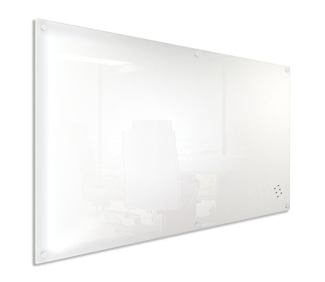 Lumiere Magnetic Glassboard in White and Black