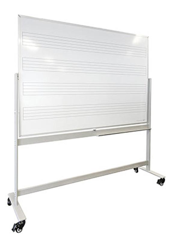 Mobile Magnetic Music Whiteboard - Modern Design