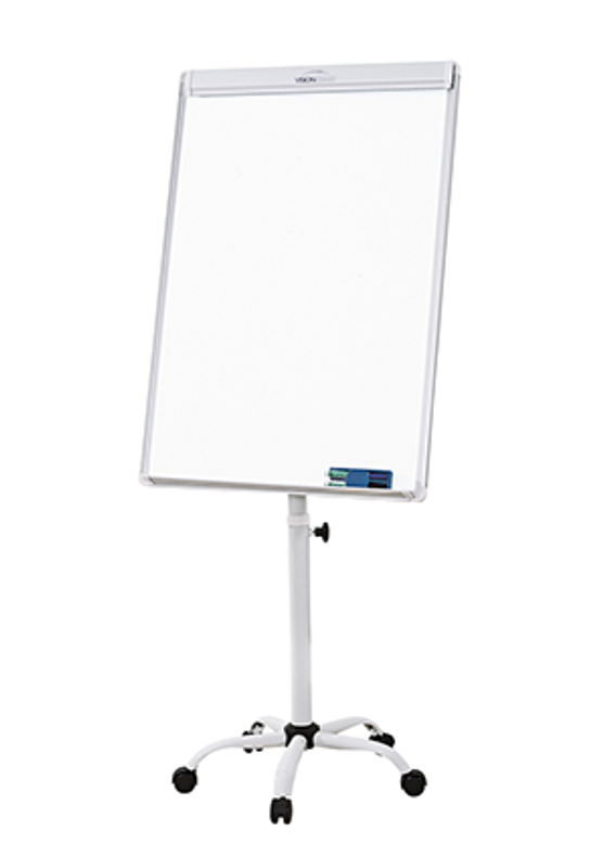 Mobile Height Adjustable Magnetic Flipchart - Deluxe