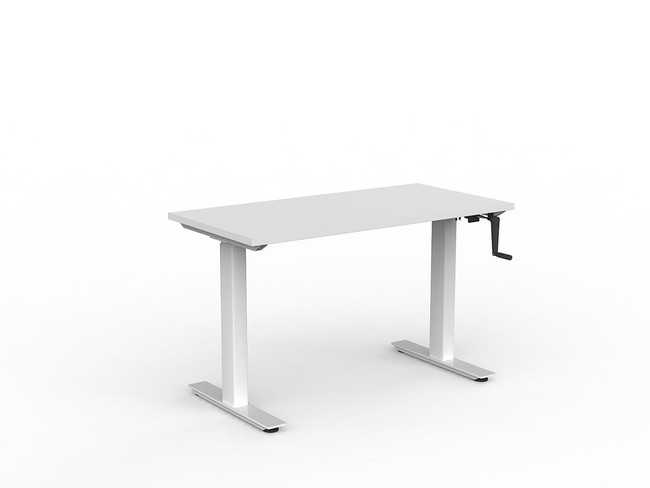 Nimble Height Adjustable Sit to Stand Desk - Manual Winder