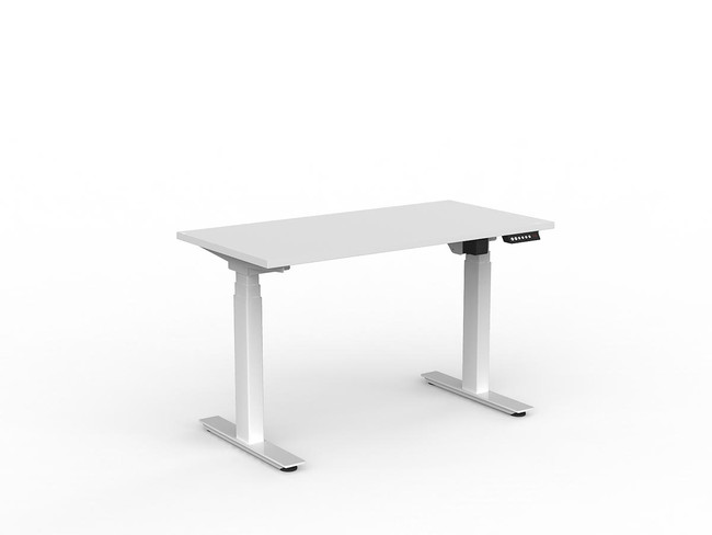 Nimble Electric Stand Up Office Desk - 3-Column