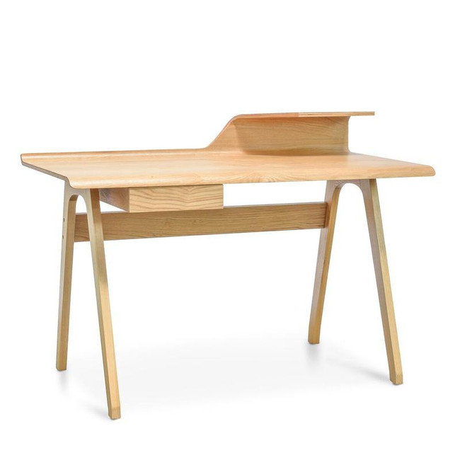 Contemporary Home Office Desk - Natural Wood