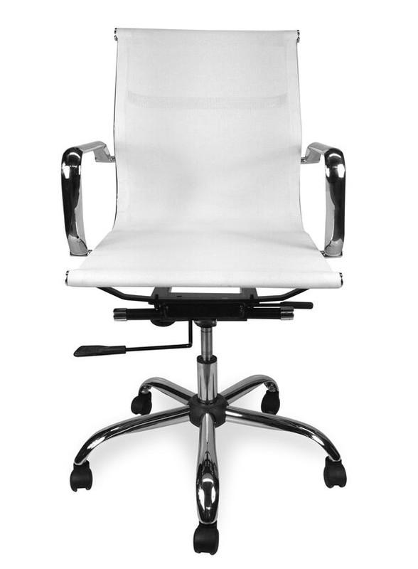 Designer Low Back Mesh Meeting Room / Boardroom Chair - White