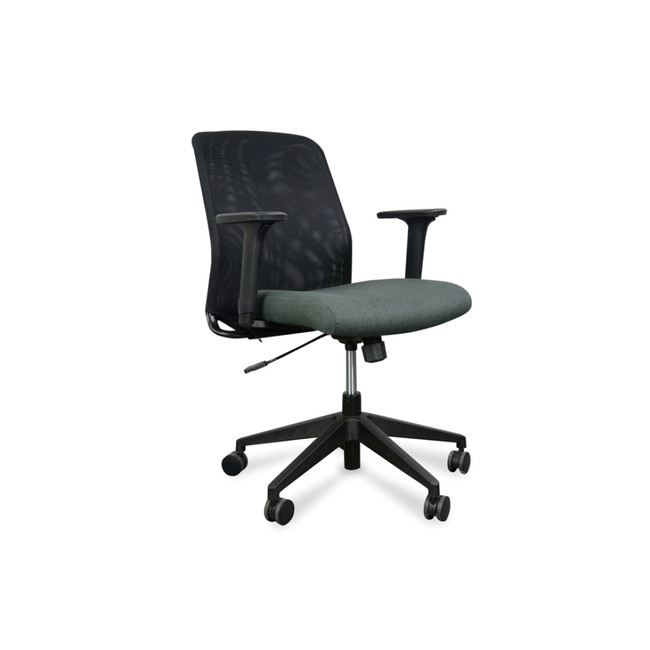 Coco Modern Mesh Office Chair With Fabric Seat - Black