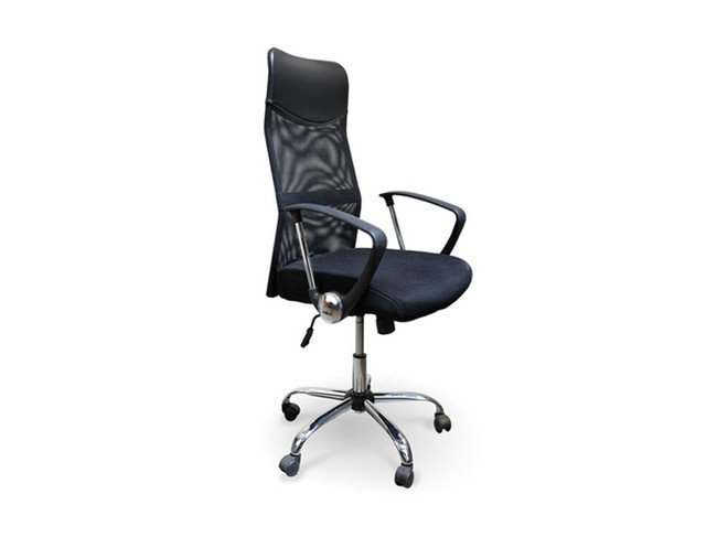 Dev PU Leather Mesh Boardroom / Meeting Chair - Black