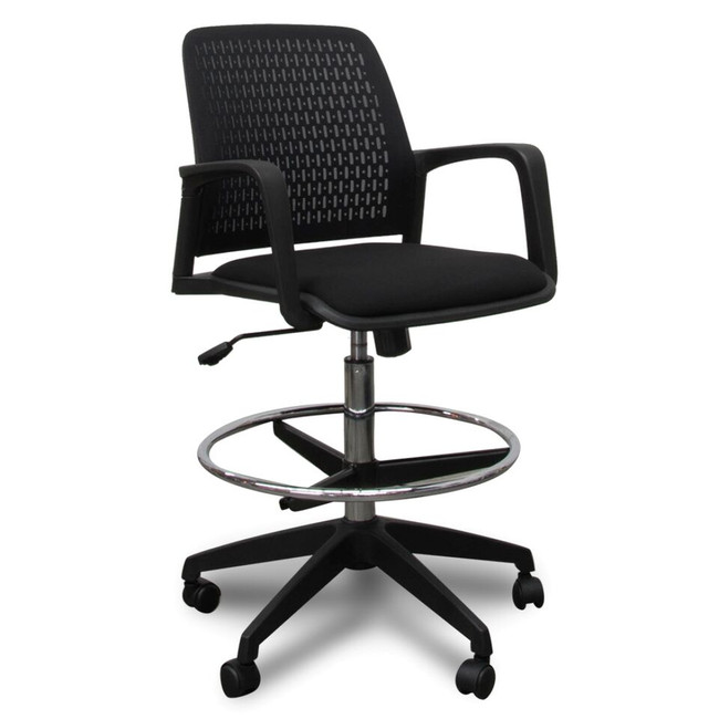 Penta Modern Ergonomic Drafting Chair - Black