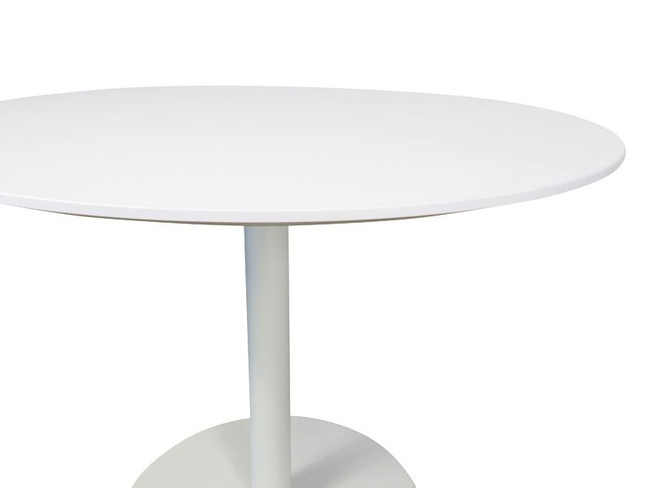 Dex Modern Round Meeting Table in White