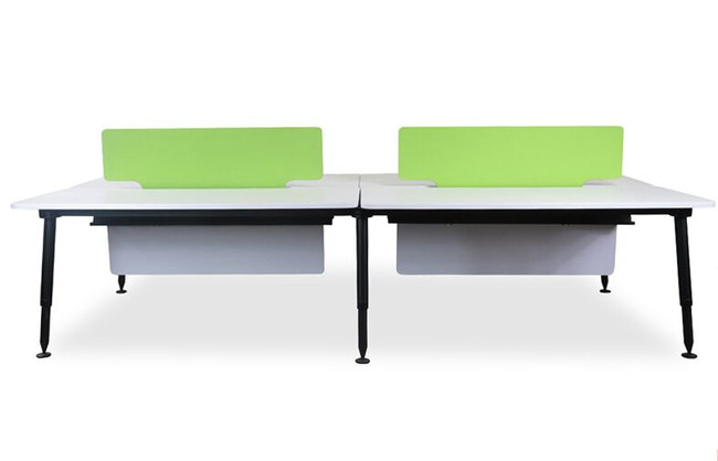 Designer 4 Person Office Workstation With Green Screen - Double Sided Desks