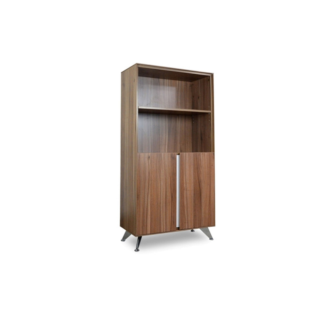 Opal Designer 2 Door Office Storage Cabinet with Bookshelf