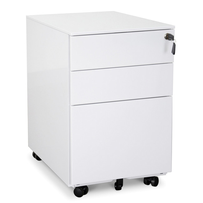 SN Designer Under Desk Mobile Pedestal - White