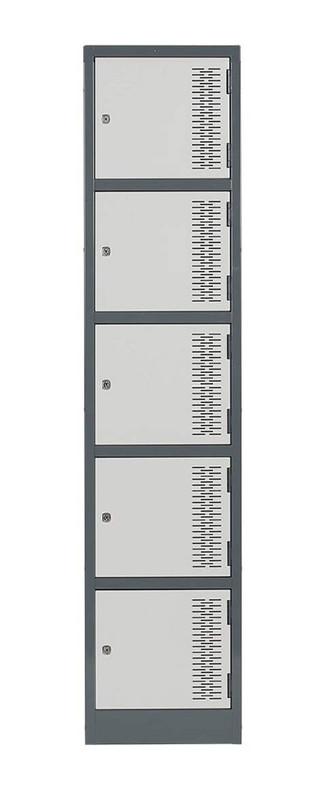 Contemporary Metal Lockers - Five Tier