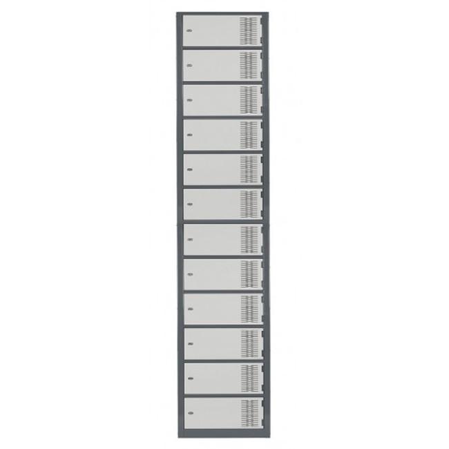 Twelve Door Contemporary Metal Lockers