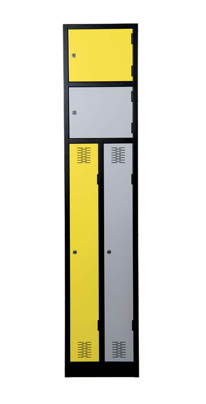 Dual Compartment Steel Lockers
