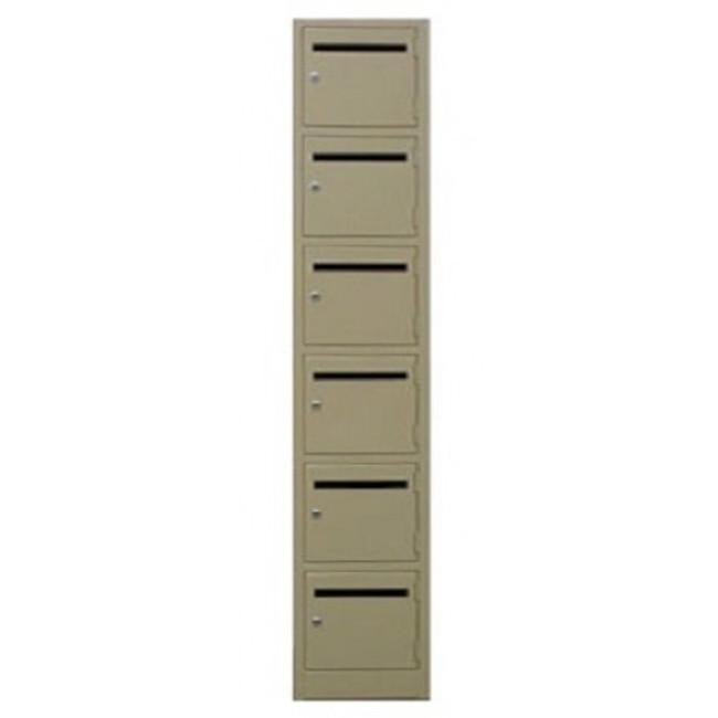 Mail Slot Metal Lockers - Six Tier