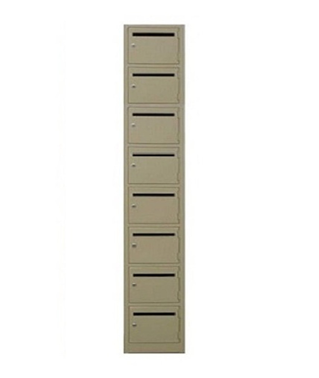 Mail Slot Metal Lockers - Eight Tier