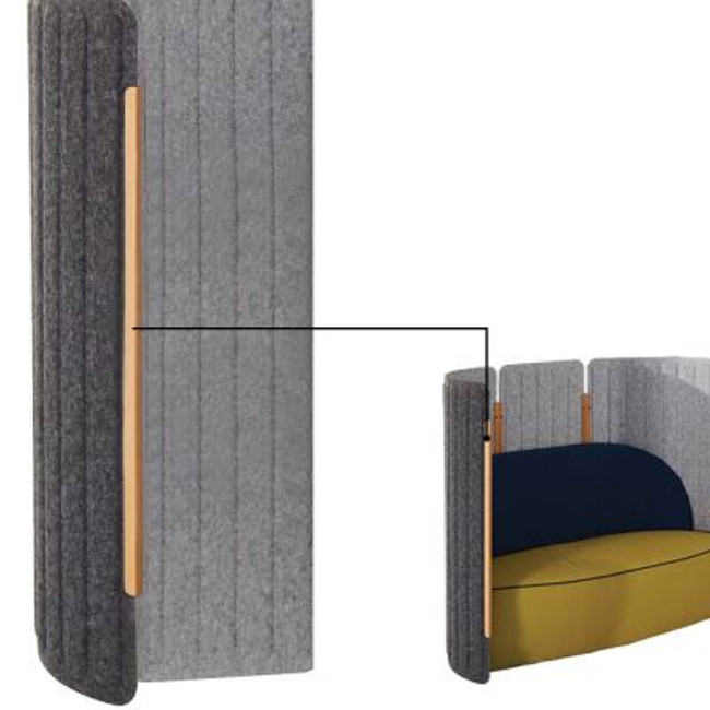 Seachange U-shape Connector For Acoustic Screens