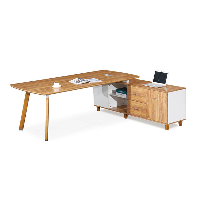Arbor Executive Corner Workstations with Under Desk Storage - American Walnut
