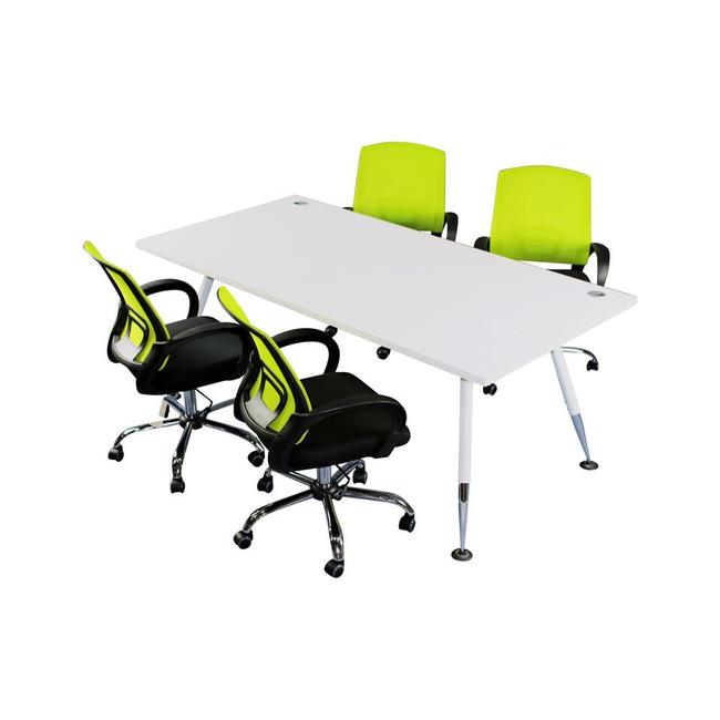 Fleet Modern 4 Person Workstation - Budget Desk Range