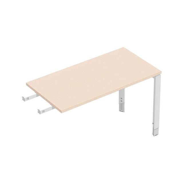 Oblique Height Adjustable Desk Return -  Soft Maple