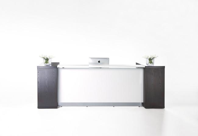 Aston White Reception Counter Units