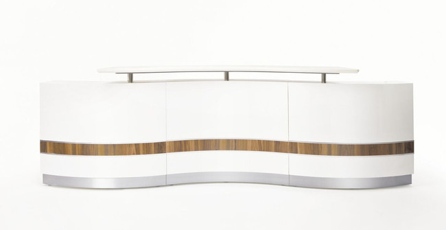 Martinique Reception Counter Units - Wave Shaped