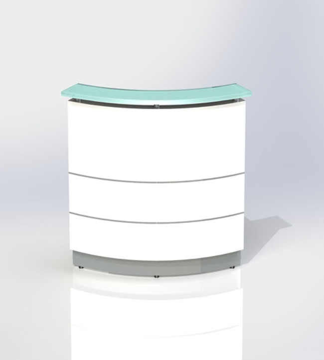 Polaris Curved Reception Counter / Front Desk Units