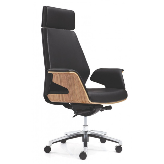 Novara V Executive Office Chair - Timber Finish