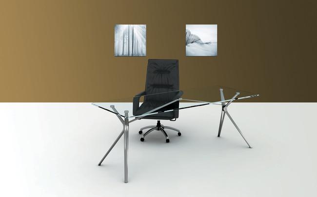 Forza Designer Office Desk - Glass Top