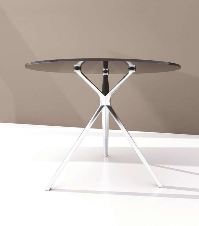 Forza Round Meeting Table - Glass Top