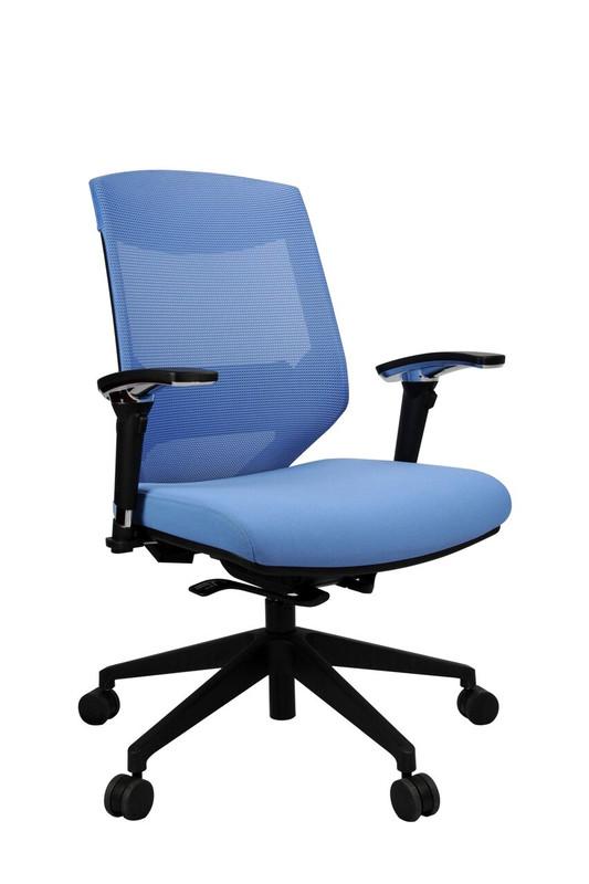 Vogue Ergonomic Mesh Back Office Chair in 5 Colours - Nylon Base