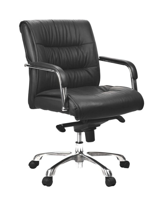 Perry Luxury Leather Office Chair - Mid Back
