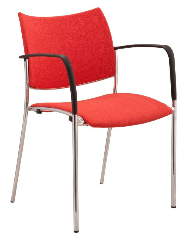 Element 4 Legs Fabric Back Visitor Chair - Stackable
