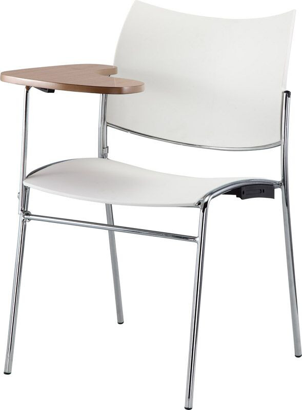 Element Training Room Plastic Chair With Tablet Arm
