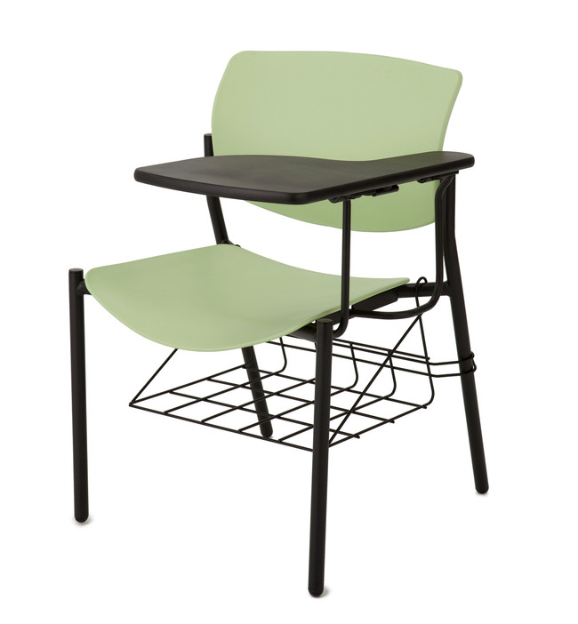 Multi Plastic Chair With Tablet Arm
