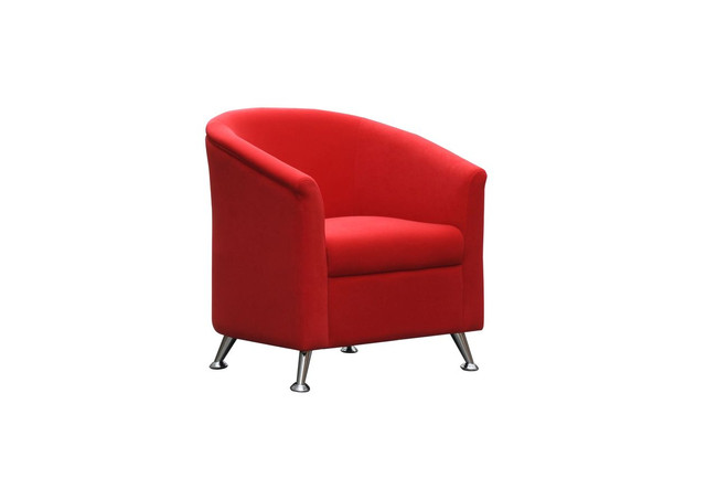 Opera Modern Fabric Tub Chair - Black / Red
