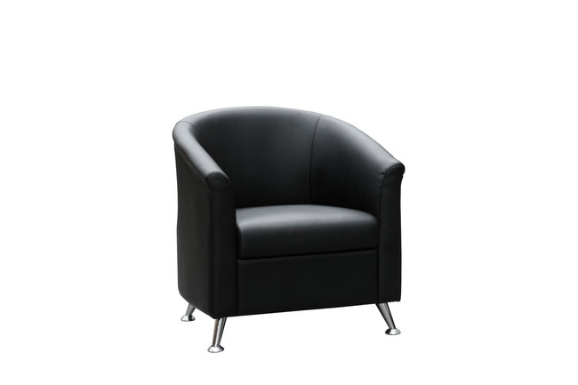 Opera Modern PU Black Tub Chair