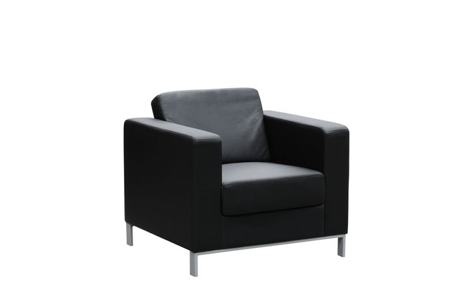 Milano Modern Black Leather Lounge - One / Two / Three Seater