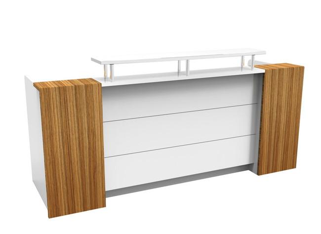 Marquee Classy Reception Counters - Gloss White / Zebra
